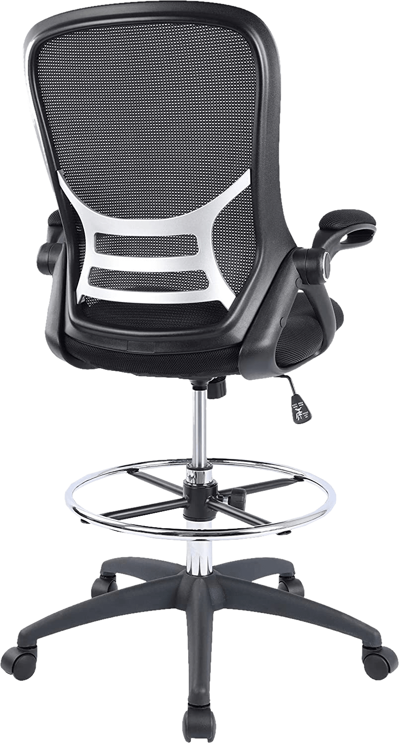 Hylone 285 lbs mesh seat padded flip up arm drafting chair