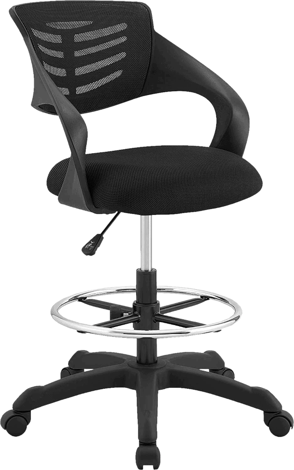 Modway thrive 331 lbs tall adjustable standing drafting chair