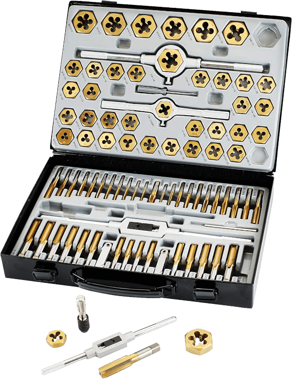 Muzerdo 86 pieces SAE metric tungsten steel tap and die set