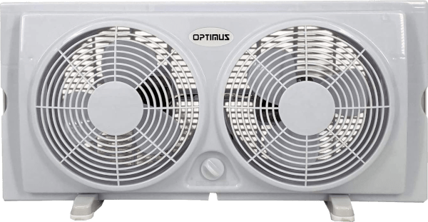 Optimus F 5280 7 inches 2 speed up to 34 inches wide twin window fan