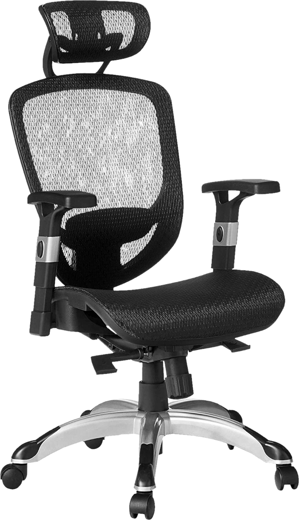 Staples hyken 250 lbs mesh seat nylon adjustable arm drafting chair