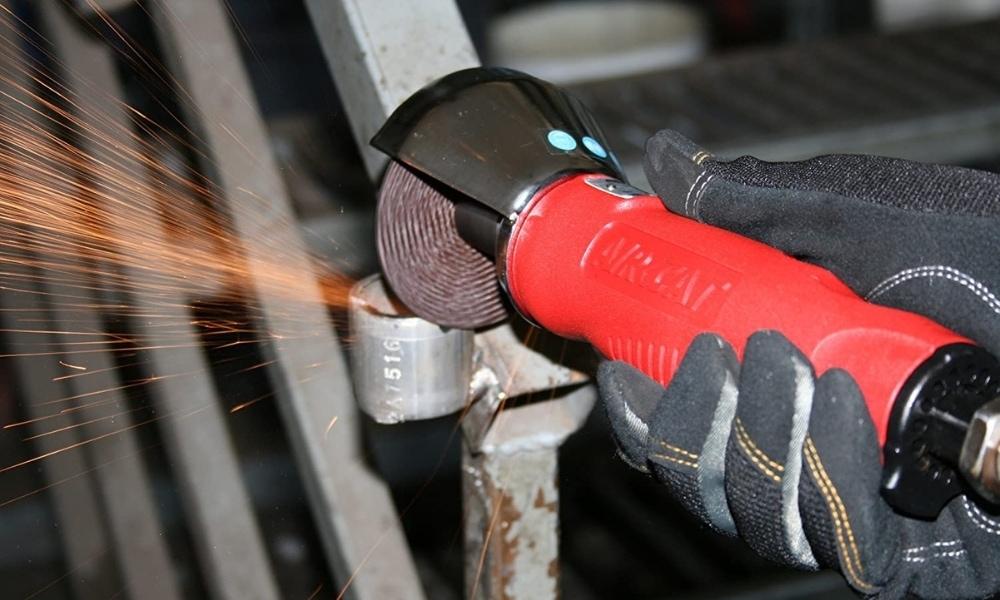 Aircat air cut off tool cutting metal