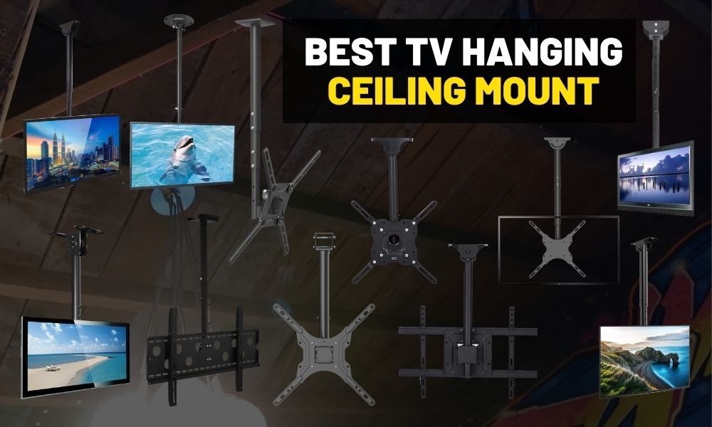 Best ceiling TV mount on a pole | For hanging your TV from the roof