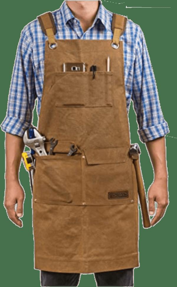 Gidabrand 5 pocket waxed canvas woodworking apron