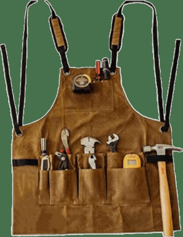 Rikivt 11 pocket waxed canvas woodworking apron