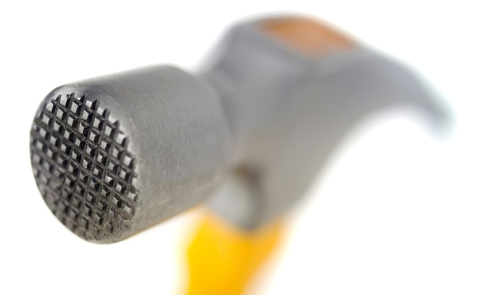 Milled face hammer