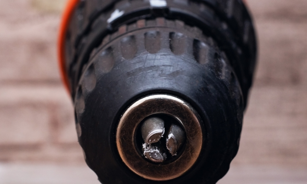 Electric drill close up