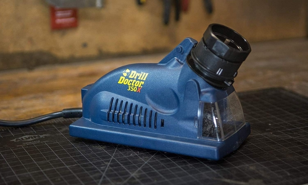 Close up look of Drill doctor 350X