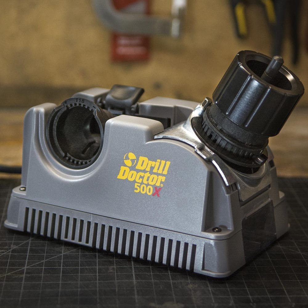 Close up look of drill doctor