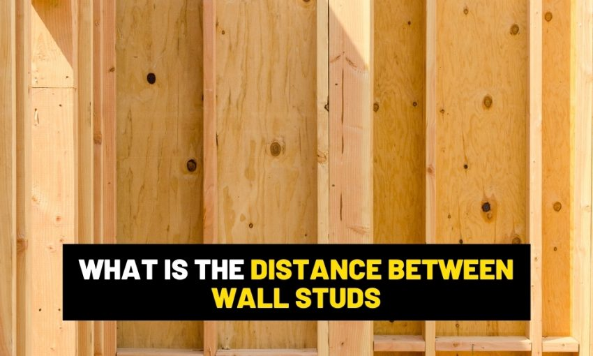 How far apart to space wall studs?