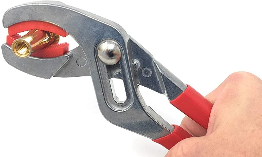 Metal magery soft jaw plier