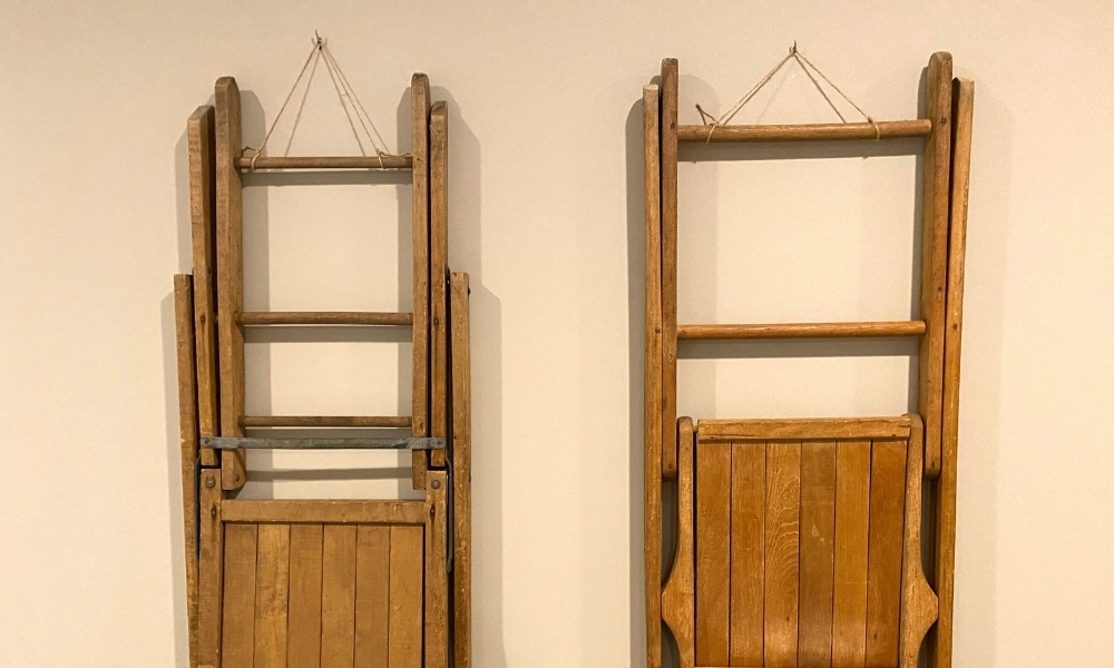 Wood art rack placed on a wall