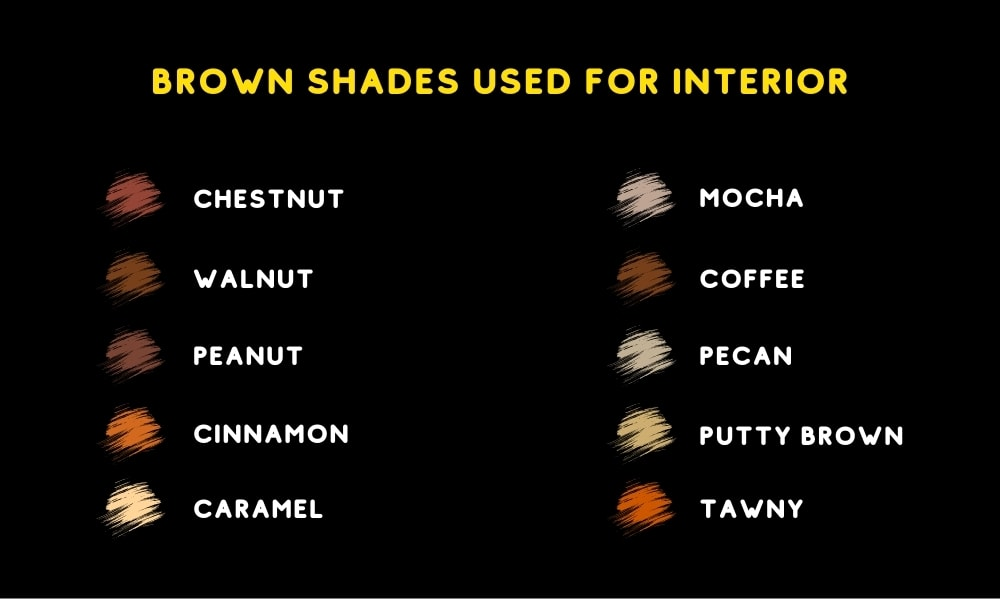 Colors that go with brown: How do you mix them?